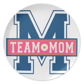 Mom team cool kid design plate