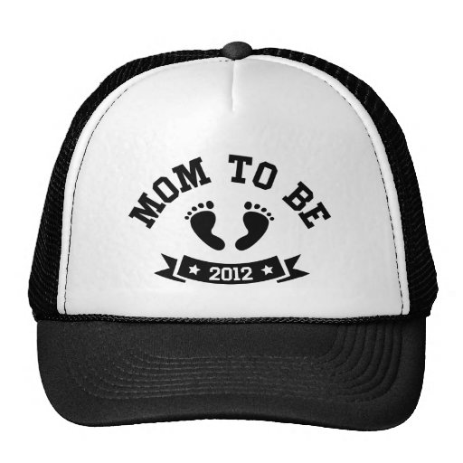 Mom to be 2012 maternity hat, neutral black