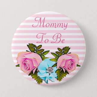 Mom to be Baby Shower button