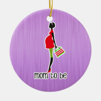 Mom To Be Expectant Mother Personalized Dated Ceramic Ornament