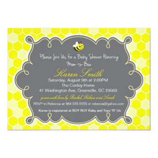 Mom to Bee, Honey Hive Baby Shower Invitation
