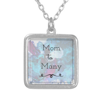 Mom To Many Silver Plated Necklace