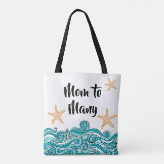 Mom to Many Starfish Story Family Adoption Tote Bag