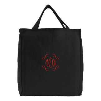 Mom tote embroidered bags
