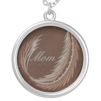 Mom, Vintage Brown Feather Necklace