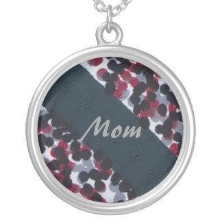Mom, Vintage Polka Dot and Stripe Necklace