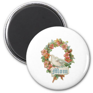 Mom (vintage wreath) magnet