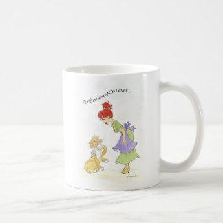 Mom with cat coffee mug