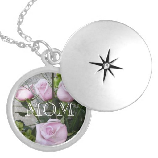 Mom With Pink Roses Lockets
