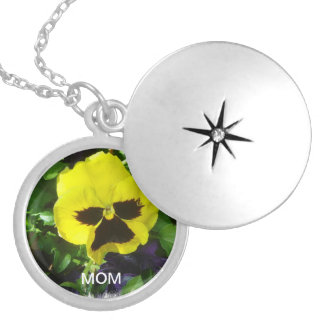 """""""Mom"""" With Yellow Pansy Lockets"""
