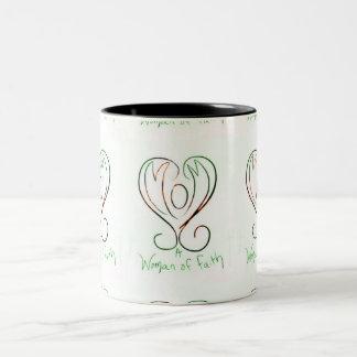 Mom , woman of faith Two-Tone coffee mug