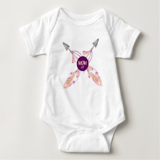 Mom x2 Feather Arrows Bohemian Baby Bodysuit