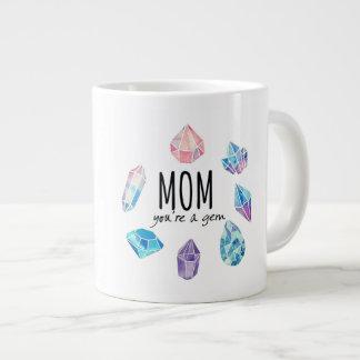 Mom you're a gem large coffee mug