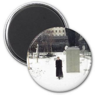 MoMA Sculpture Garden: www.AriesArtist.com 6 Cm Round Magnet