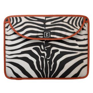 Mombassa Zebra Print MacBook Pro Sleeve, Black/Wht MacBook Pro Sleeve