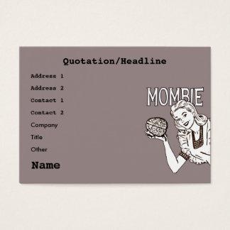 Mombie Retro Zombie Business Card