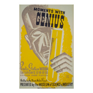 Moments With Genius Vintage Poster