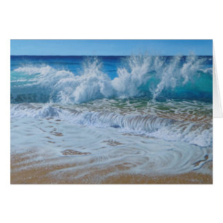 Momentum Palm Beach Waves Australia Greeting Card