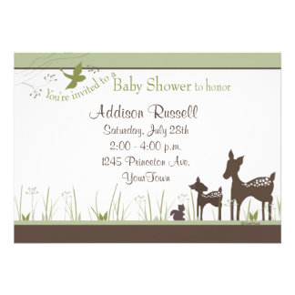 Momma and Baby Deer Shower Invitations