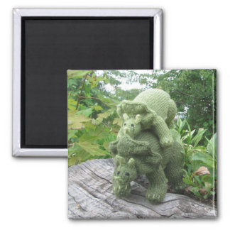 Momma and Baby Triceratops fridge magnet