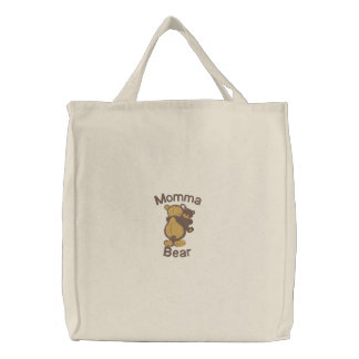 Momma Bear Cute Customizable Embroidery Bag Embroidered Bag