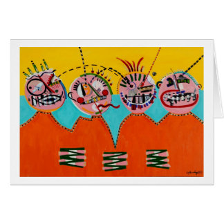 Momma, Daddy, Sissy and Poo-Poo Greeting Card