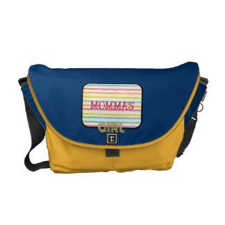 Mommas Girl Retro Diaper Bag Courier Bag