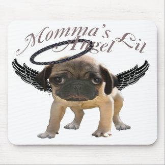 Momma's Lil Angel Pug Mousepad