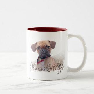 Momma's Lil Puggle Two-Tone Coffee Mug