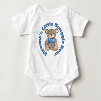 Momma's Little Snuggle Bear Baby Bodysuit
