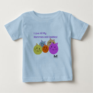 Mommies and Daddies Polyamory Family Products Baby T-Shirt