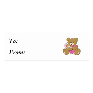 Mommy and Baby Girl Bear Business Card Template