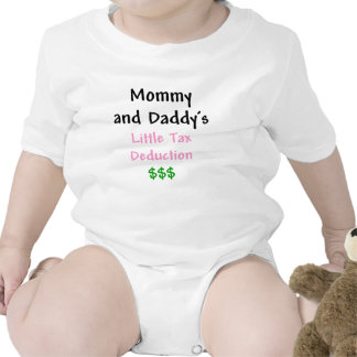 Mommy and Daddys  Little Tax Deduction Pink Rompers