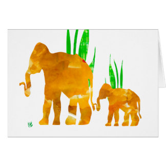 Mommy and Me Elephant Card