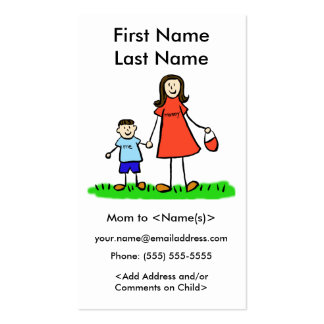 Mommy and Son Custom Photo Calling Playdate Cards Double-Sided Standard Business Cards (Pack Of 100)