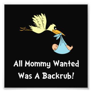Mommy Backrub Art Photo