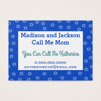 Mommy Business Calling Card - Your Favorite Color