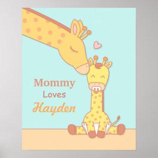 Mommy Giraffe and Baby Calf Nursery Room Decor