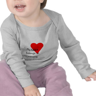 Mommy  Heart Tee Shirt
