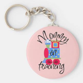 Mommy In Training Basic Round Button Key Ring