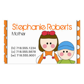Mommy Info Card Pack Of Standard Business Cards