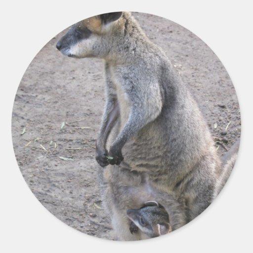 Mommy Kangaroo Stickers