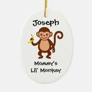 Mommy Lil Monkey Ceramic Ornament