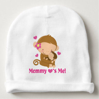 Mommy Loves Me Monkey Baby Infant hat Baby Beanie