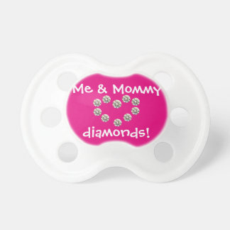 Mommy & Me Diamond Pacifier, pink Dummy