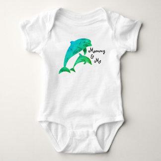 Mommy & Me Porpoises Baby Bodysuit