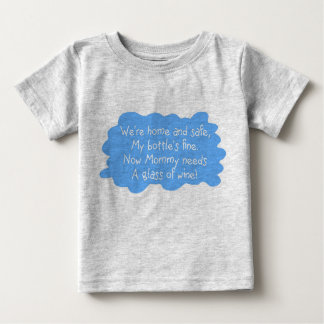 Mommy Needs Wine Blue Baby T-Shirt