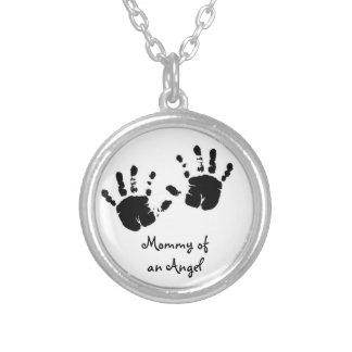 Mommy OF at fishing rod memory chain Silver Plated Necklace