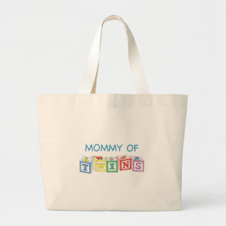 Mommy of Twins Blocks Jumbo Tote Bag