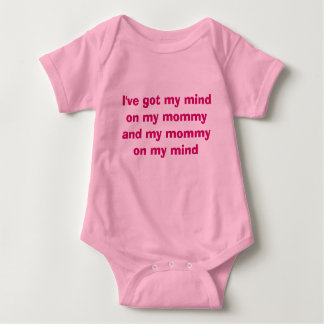 Mommy on my mind baby bodysuit